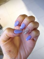lavender and silver acrylic nails
