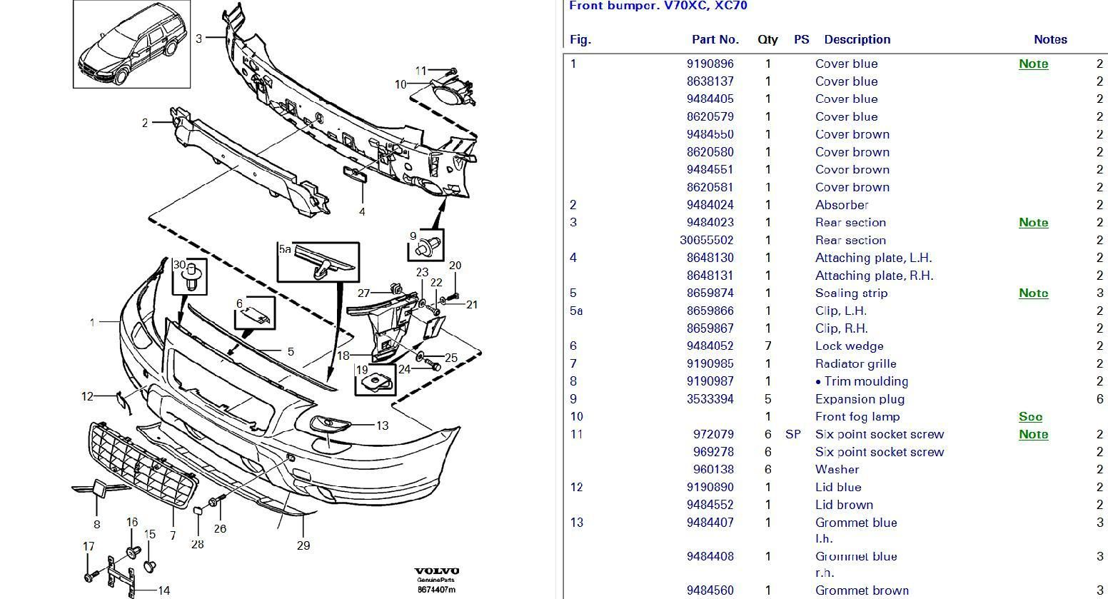 Service manual [How To Remove Front Bumper 2006 Volvo Xc70