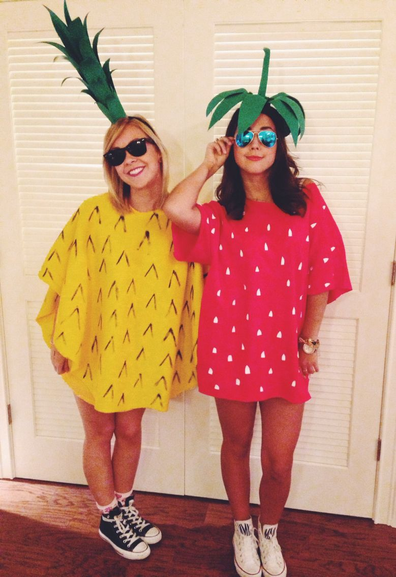 This Is Cute For Halloween Or A Costume Party, Diy Pineapple And Strawberry  Costume