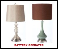 battery operated lamp | Battery operated cordless table ...