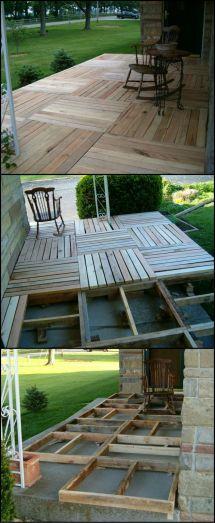 Build Porch Reclaimed Pallets Http