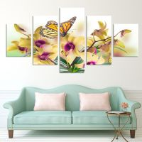 No Frame Paintings Fashion Design 5 Panel Modern Wall ...