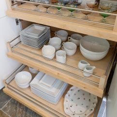 Kitchen Pull Out Drawers Soup Volunteer Houston Larder With For Crockery