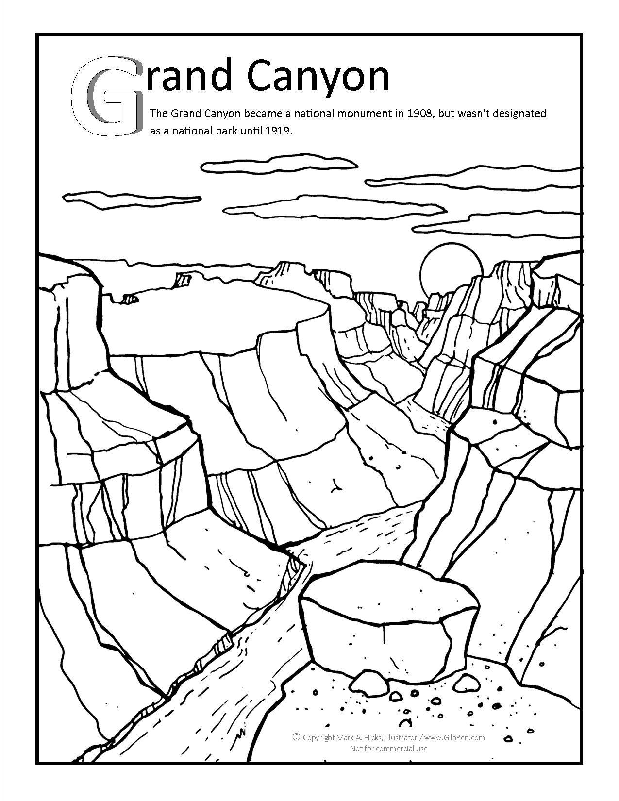 Grand Canyon Coloring Page At Gilaben