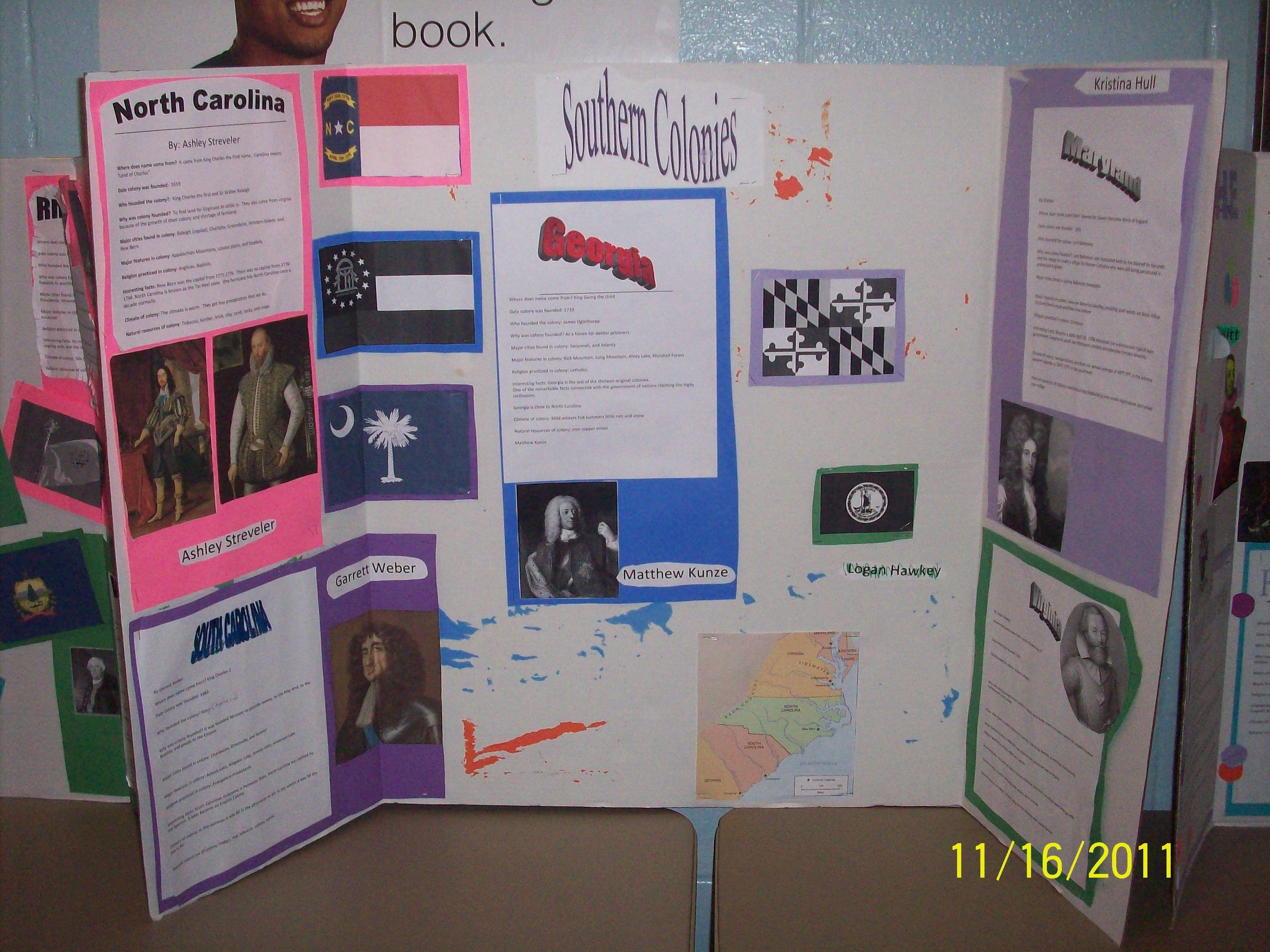 13 Colonies Display Project Social Studies Pinterest