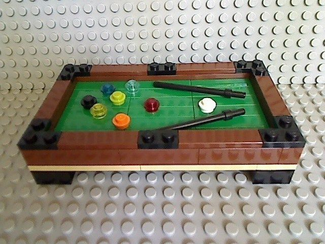 LEGO POOL TABLE Green 8 Ball Billiards City Stick Town