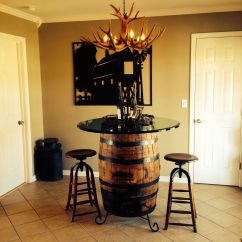 Whiskey Barrel Pub Table And Chairs Office Chair Leather Jack Daniel 39s As Kitchen With Glass