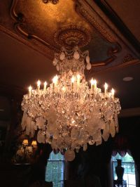 crystal quartz chandelier made in England , so gorgeous ...