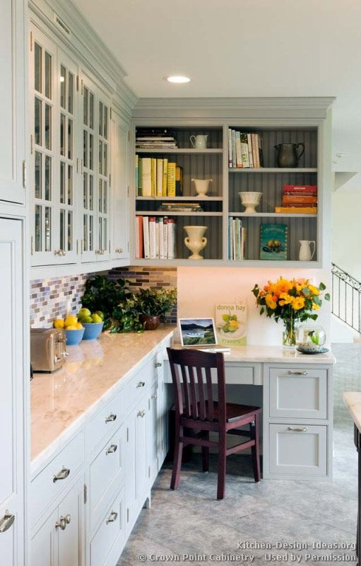 Beautiful Kitchen Desk Transitional Kitchen Design With Shaker