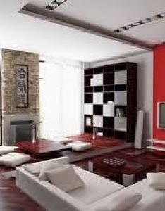 Decoration asian style living room interior design wooden cabinet white wall paint color table japanese inspired red pillow also gd home item   pinterest interiors rh