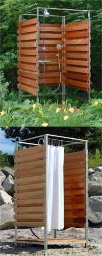 16 DIY Outdoor Shower Ideas | Outdoor shower fixtures ...