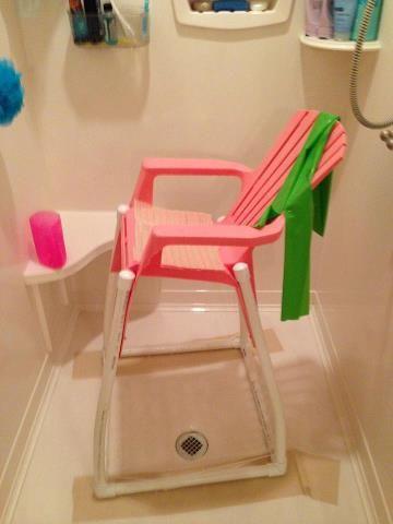 Special needs DIY Bath Chair  Rett Girl  Rett Syndrome