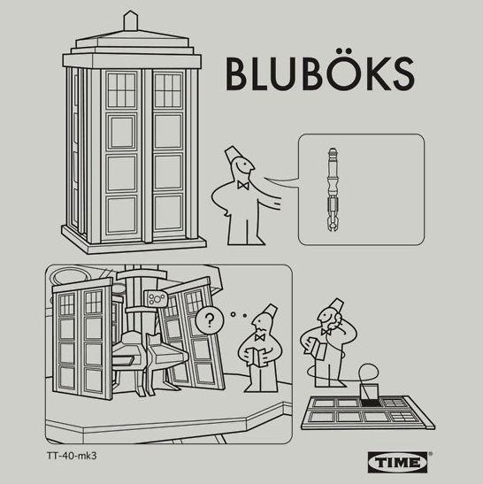 IKEA TARDIS instructions (Bwahahahaha. I'm quite handy