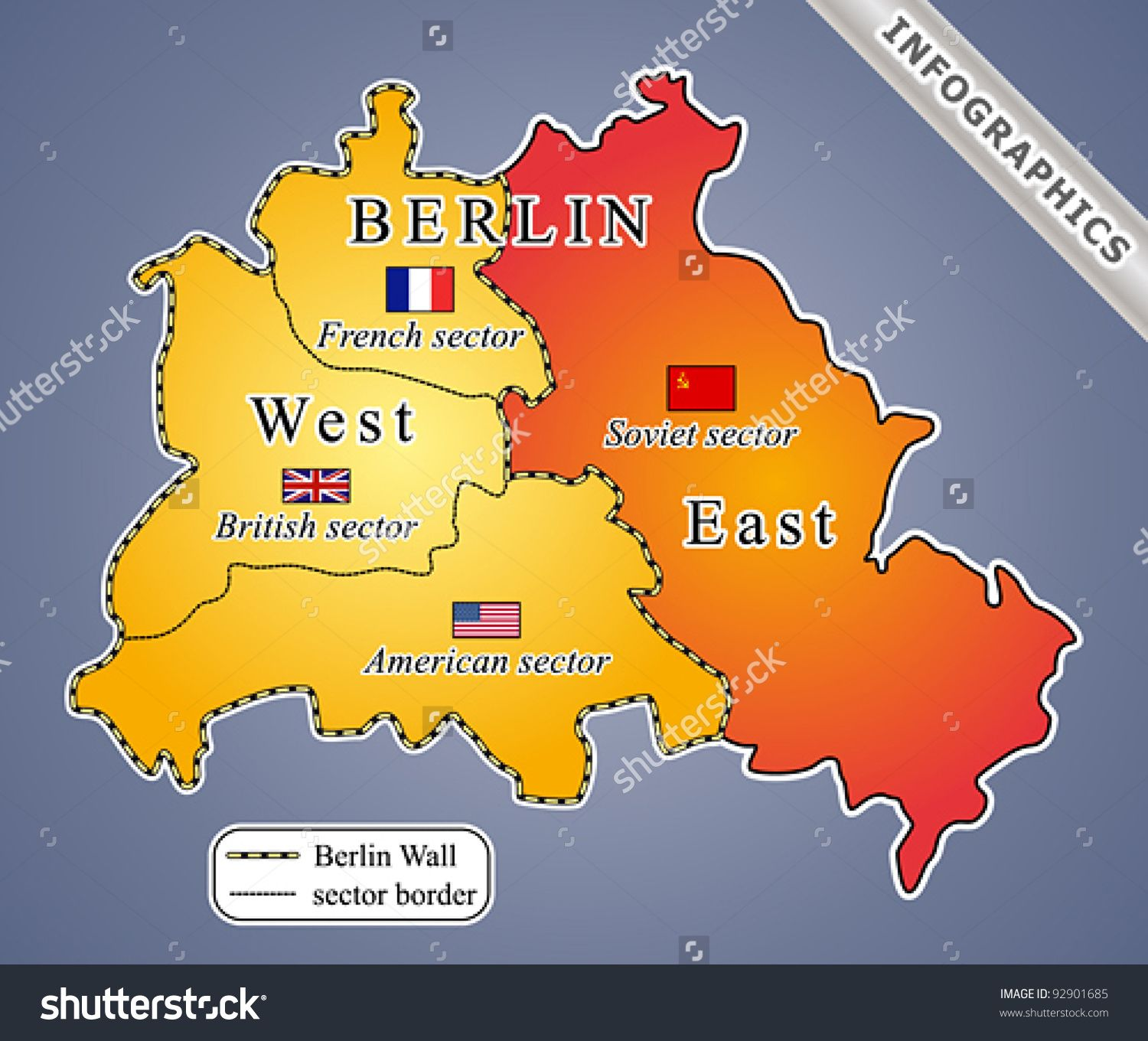 Map Of East West Germany.East West Germany Wall Map