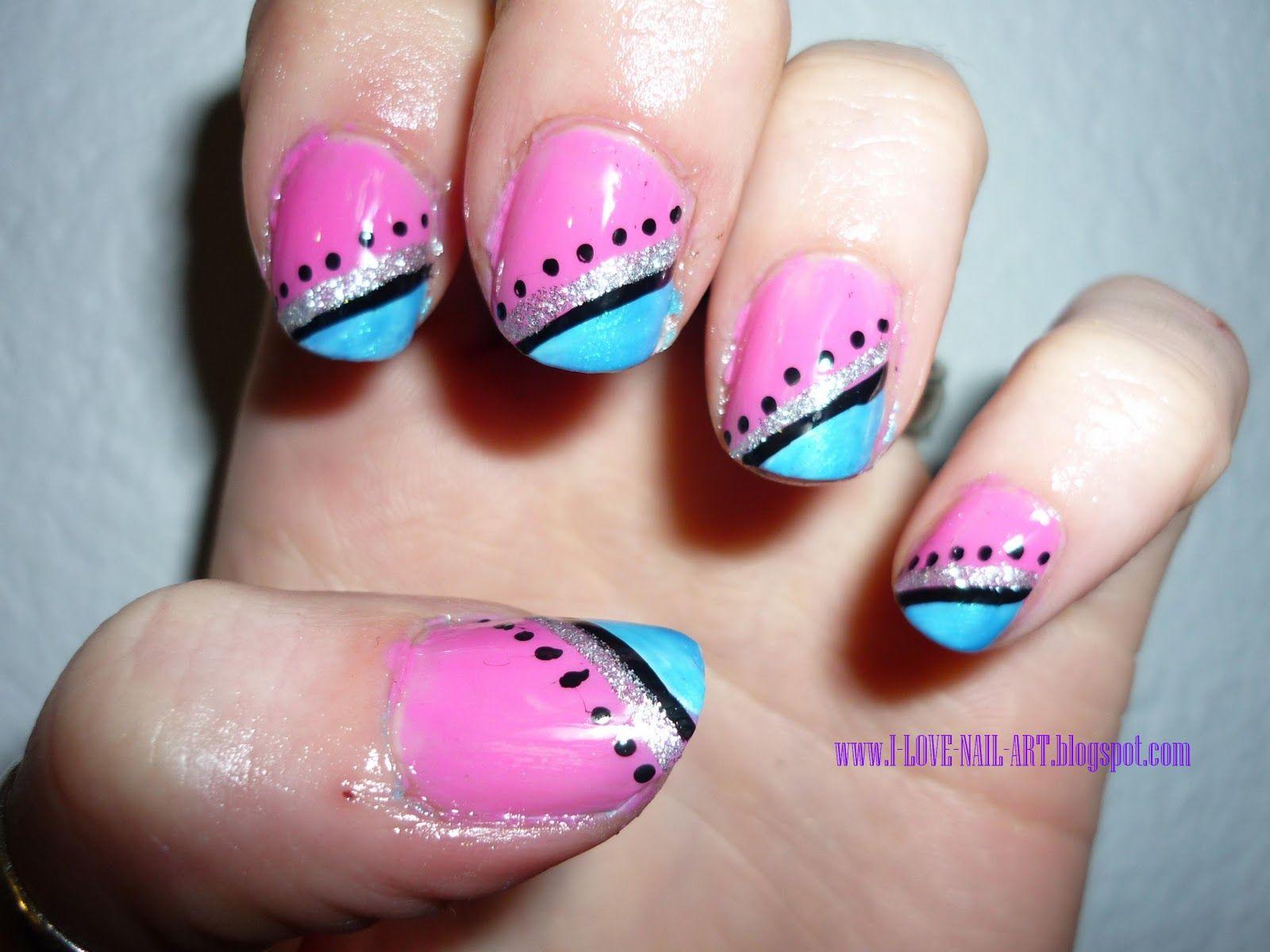 Shimmery Grey Nail Design For Short Nails Cute Easy Nail Designs