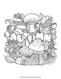 Fall Coloring Pages eBook: Autumn | Free printable, Free ...