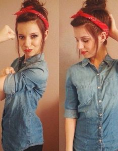 Dressing up as this feminist icon is easy  red bandanna and denim shirt are also best images about halloween on pinterest costumes rh