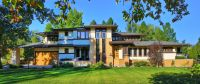 Custom  Frank Lloyd Wright Style House  Front Elevation ...