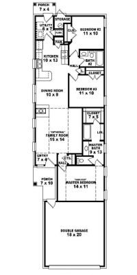 #653501 - Warm and Open House Plan for a Narrow Lot ...