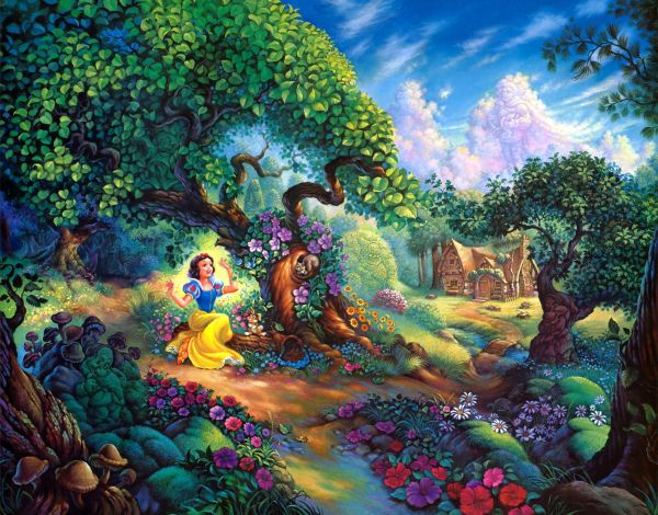 Thomas Kinkade Disney Snow White