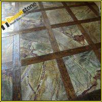 Custom Design Rainforest Green Marble Bathroom,Honed 18x18 ...