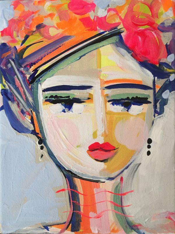 Abstract Portrait Print Medium 9x12 Woman