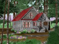 Cool 800 sq ft cozy cabin tiny home by Mountain ...
