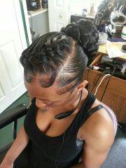 goddess braid updo updo's