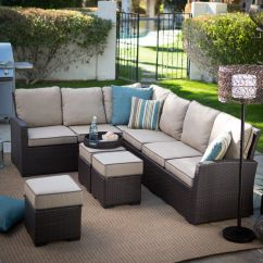 Montclair All Weather Wicker Sectional Sofa Set Mainstays Flip Sleeper Bed Chair Have To It Belham Living Monticello