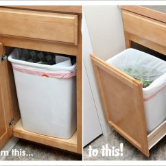 Kitchen Pull Out Drawers Storage Our Modern Homestead Diy Trash Drawer House