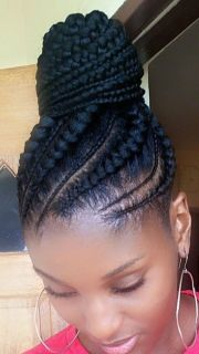 hair makeover african ponytail