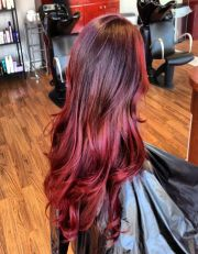 red ombre hair color variations