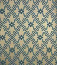 Bayham Abbey Wallpaper Gold and teal blue wallpaper with ...