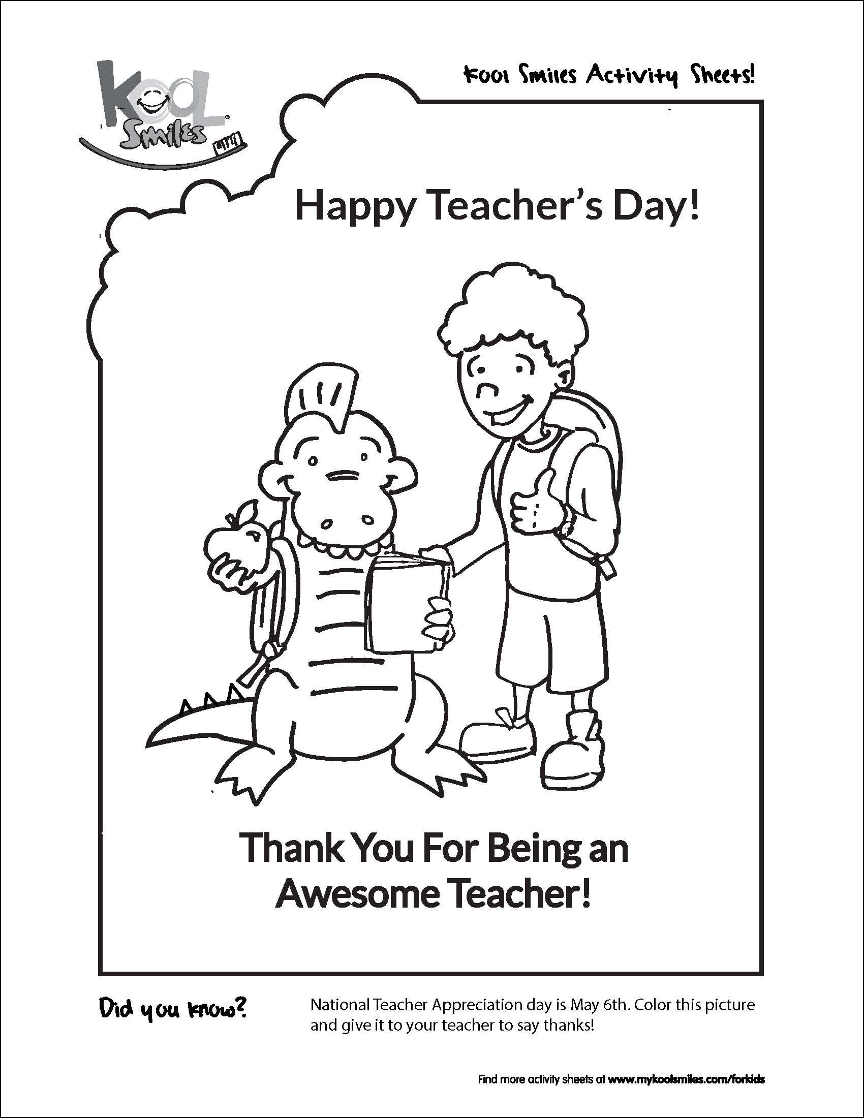 Celebrate National Teacher's Day with this fun activity