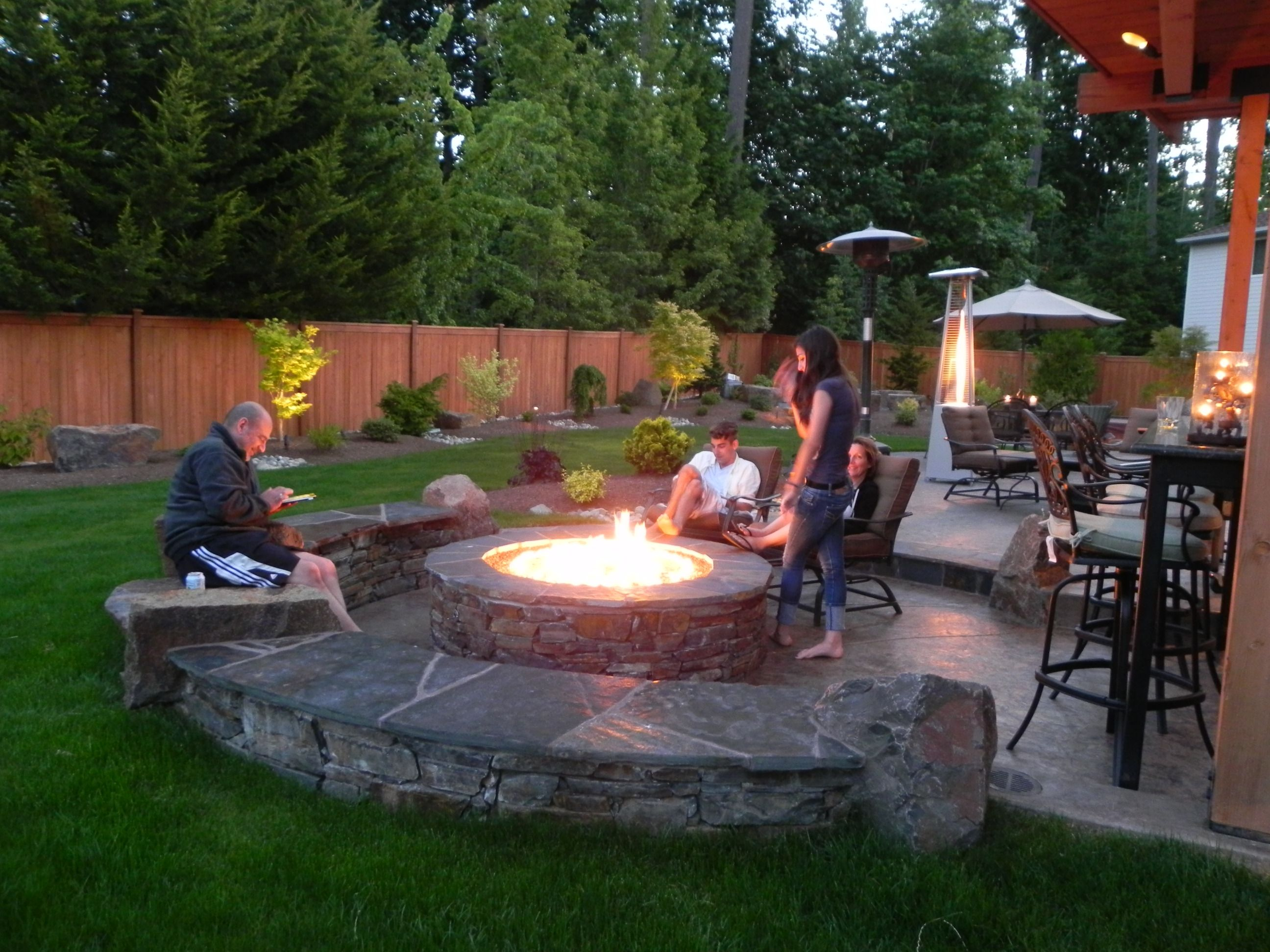 Inspiration For Backyard Fire Pit Designs Gardens Fire Pits And