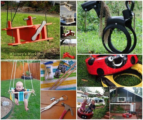 Fabulous DIY Patio And Garden Swings For Kids Vrt Pinterest