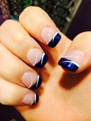 dark blue prom nails