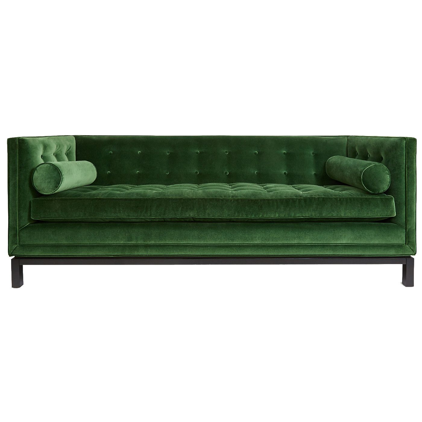 sofa bed green velvet scs returns policy emerald waiting area jonathan adler and