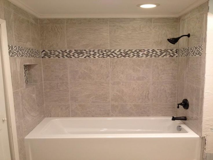 bathroom tile designs around bathtub