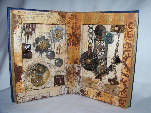 Steam Punk Altered Book Hillary Blackwood