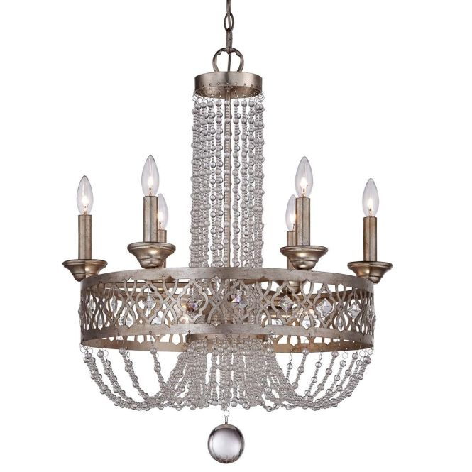 Fretwork Band And Crystal Chandelier