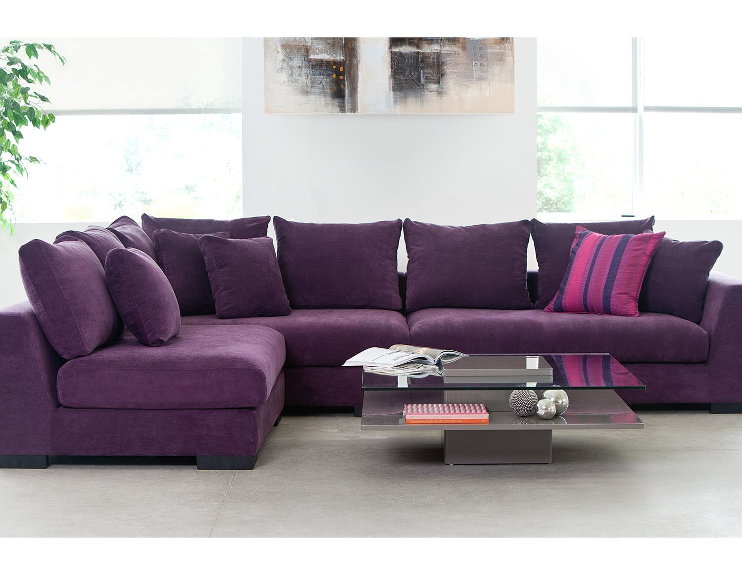 purple corner sofa bed recovering living room sectional sofas cooper faints a