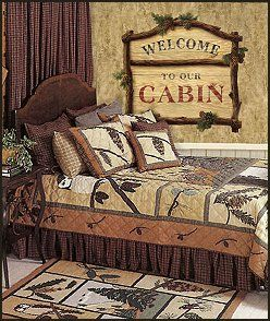 Lodge Cabin Log Cabin Themed Bedroom Decorating Ideas Moose