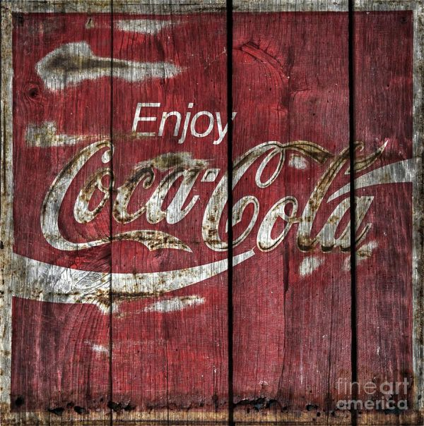 Coca Cola Sign Barn Wood John Stephens