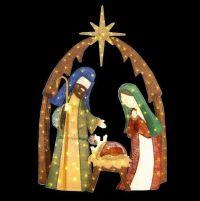 Outdoor Nativity Scene Christmas Holiday Decor Yard 6Ft ...