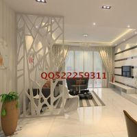 Modern branches hollow carved panels off the entrance door