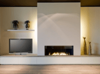 Fireplace with television adjacent | Fireplace | Pinterest ...