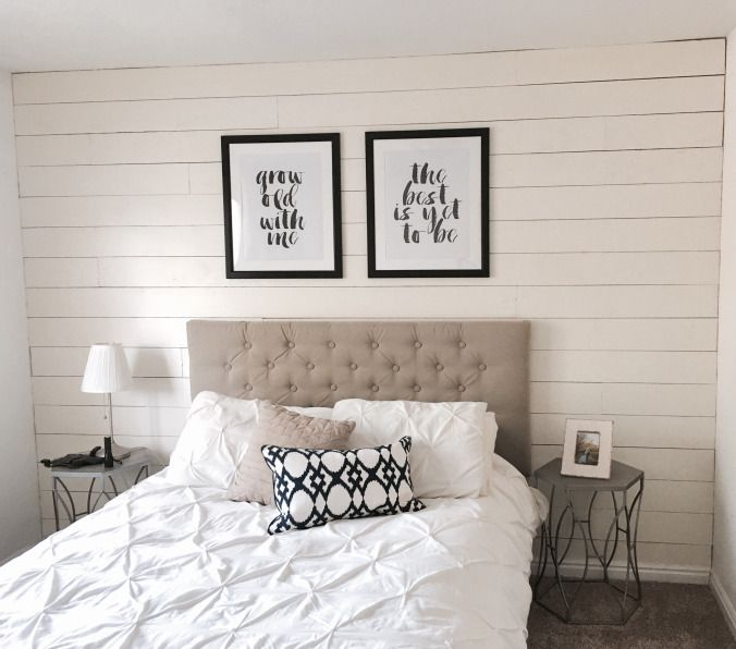 One afternoon ship lap accent wall also plank bedroom rh pinterest
