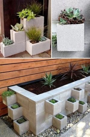 Cinder Block Planters DIY Garden Container Ideas By