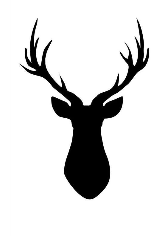 Deer Head Pallet  FREE Printable Deer Silhouette  Cerf Buste et Faire soi meme